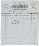 Facture F. Ganot - Draperie - Nouveautés Pour Pantalons - Doublures... - Savigny ( Sur Orge ) - 1864 - France