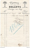 Facture Pharmacie Delante - Savigny Sur Orge - 1864 - France