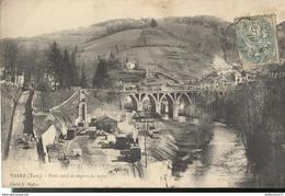CPA  Vabre - Pont Neuf - Départ Du Train - Circulé - Vabre