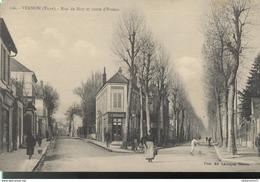 CPA  Vernon - Rue De Bizy - Route D'Evreux - Circulé 1924 - Vernon