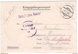 Courrier De Prisonnier Français En Allemagne - 1942 - étiquette D'expédition Pour Un Colis De Vêtements - Dokumente
