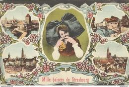 CPA  Strasbourg - Mille Baisers De Strasbourg - Circulée 1922 - Strasbourg
