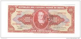 Billet 100 Cruzeiros Surmarqué 10 - Brésil / Brasil / Brazil 1960 - Etat Neuf - Brazil
