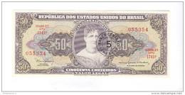 Billet 50 Cruzeiros Surmarqué 5 - Brésil / Brasil / Brazil 1954 - Etat Neuf - Brazil