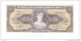 Billet 50 Cruzeiros Brésil / Brasil / Brazil 1954 - Bon état - 1 Pliure Vertical - Brazil
