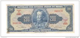Billet 200 Cruzeiros Brésil / Brasil / Brazil 1964 - Très Bon état - 1 Pli Vertical - Brazil