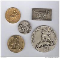 """Lot De 5 Médailles """"Société Canine"""" - France"""