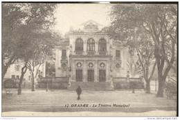 CPA Orange - Le Théâtre Municipal - Dos Divisé - Circulée - Orange