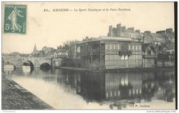CPA Amiens - Le Sport Nautique Et Le Pont Barabau - Dos Divisé - Circulée En 1914 - Amiens