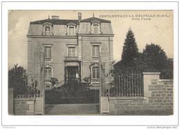 CPA Pontanevaux -  La Chapelle - Villa Favre - Circulée - Other Municipalities