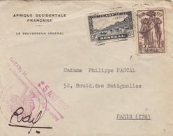 LETTRE. SENEGAL.  5 AOUT 1937.  LE GOUVERNEUR GENERAL POUR PARIS  / 4 - Storia Postale