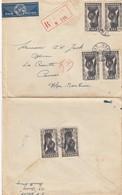 LETTRE. SENEGAL.  6 JUIN 47.  RECOMMANDE DAKAR  POUR CANNES. 6 TIMBRES  / 4 - Storia Postale