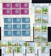 Sonne CEPT 1970 JUGOSLAVIJA 1379/0 KB,Bosnia 339/2,ZD,VB+Bl.13A ** 58€ Hoja M/s Blocs S/s Sheetlets Bf Topic EUROPA - Bosnie-Herzegovine
