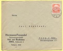 Deutsches Reich - 1933 - 12 - Hermann Freundel - Viaggiata Da Jena Per Gera - Storia Postale