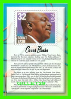 TIMBRES REPRESENTATIONS - COUNT BASIE (1904-1984) PIANIST - LEGENDS OF AMERICAN MUSIC - STAMP ISSUE, 1996 - - Timbres (représentations)