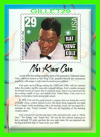 TIMBRES REPRESENTATIONS - NAT KING COLE (1919-1965) SINGER - LEGENDS OF AMERICAN MUSIC - STAMP ISSUE, 1994 - - Timbres (représentations)