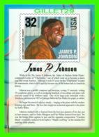 TIMBRES REPRESENTATIONS - JAMES P. JOHNSON (1894-1955) JAZZ PIANIST - LEGENDS OF AMERICAN MUSIC - STAMP ISSUE, 1995 - - Timbres (représentations)