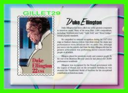 TIMBRES REPRESENTATIONS - DUKE ELLINGTON (1899-1974)  - LEGENDS OF AMERICAN MUSIC - STAMP ISSUE, 1986 - - Timbres (représentations)
