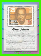 TIMBRES REPRESENTATIONS - ROBERT JOHNSON (1911-1938) BLUES SINGER - LEGENDS OF AMERICAN MUSIC - STAMP ISSUE, 1994 - - Timbres (représentations)