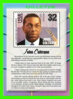 TIMBRES REPRESENTATIONS - JOHN COLTRANE (1926-1967) JAZZ SAXOPHONIST - LEGENDS OF AMERICAN MUSIC - STAMP ISSUE, 1995 - - - Timbres (représentations)