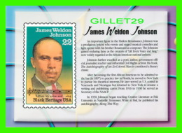 TIMBRES REPRESENTATIONS - JAMES WELDON JOHNSON (1871-1938) COMPOSER - LEGENDS OF AMERICAN MUSIC - STAMP ISSUE, 1988 - - Timbres (représentations)