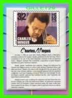 TIMBRES REPRESENTATIONS - CHARLES MINGUS (1922-1979) JAZZ BASSIST - LEGENDS OF AMERICAN MUSIC - STAMP ISSUE, 1995 - - Timbres (représentations)