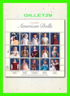 TIMBRES REPRESENTATIONS - CLASSIC AMERICAN DOLLS, THE GREINER DOLL 1858 TO MODERN DOLL DESIGN - - Timbres (représentations)