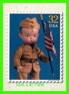 TIMBRES REPRESENTATIONS - CLASSIC AMERICAN DOLLS,  PERCY CROSBY'S SKIPPY. 1932 - SOLDIER - - Timbres (représentations)