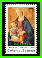 TIMBRES REPRESENTATIONS - CHRISTMAS - MADONNA AND CHILD,1470 - DOMENICO GHIRLANDAIO (1449-1494) - STAMP ISSUE, 1975 - - Timbres (représentations)