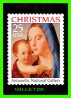 TIMBRES REPRÉSENTATIONS - CHRISTMAS - ANTONELLO DA MESSINA (1430-1479) MADONNA AND CHILD - STAMP ISSUE, 1990 - - Timbres (représentations)