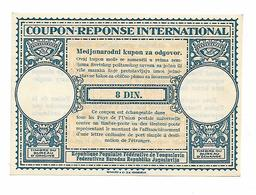 Coupon Reponse International 8 Dinari Yugoslavia - Yugoslavia