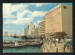 United Arab Emirates UAE Dubai Picture Postcard Dubai Ship Passengers Crossing View Card - Dubai