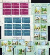 CEPT Kette 1971 JUGOSLAVIJA 1416/7KB,Bosnia 339/2,ZD,VB+Bl.13B ** 355€ Hoja M/s Blocs S/s Sheetlets Bf Topic EUROPA - Bosnien-Herzegowina