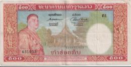 LAOS  P. 7a 500 K 1957  VF - Laos