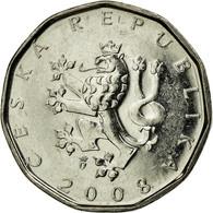 Monnaie, République Tchèque, 2 Koruny, 2008, TTB, Nickel Plated Steel, KM:9 - Tchéquie