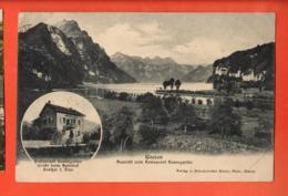 LON-35 Weesen Aussicht Vom Restaurant Rosengarten U. Restaurant In Medaillon. Feldpost - SG St. Gallen
