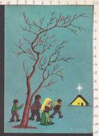 98347/ NOEL, En Route Vers La Crèche, Illustrateur M. Boniver - Natale