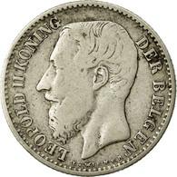 Monnaie, Belgique, Leopold II, Franc, 1886, B+, Argent, KM:29.1 - 07. 1 Franc