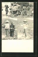 AK Chinese Farmers, Landarbeiter_Innen In China, Reisernte - Landwirtschaftl. Anbau
