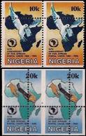 NIGERIA 1990 Postal Union PAIRS:2 ERROR:perf. - UPU (Universal Postal Union)