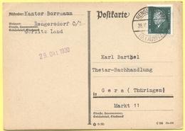 Deutsches Reich - 1930 - 8 - Postkarte - Karl Barthel - Viaggiata Da Rengersdorf Per Gera - Deutschland