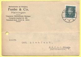 Deutsches Reich - 1929 - 8 - Postkarte - Funke & Co. - Viaggiata Da Meiningen Per Gera - Deutschland