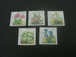 De1000- Set-  MNh Germany -1991- SC.  1630-1634- Flowers - Végétaux