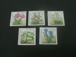 De1000- Set-  MNh Germany -1991- SC.  1630-1634- Flowers - Plants