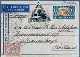 Nederlands Indie Postjager, 1934.1.5, From Lawang To The Hague, Netherlands, Special Flight Marking - Indes Néerlandaises