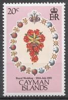 Cayman Islands 1981 Mi# 475** ROYAL WEDDING, BOUQUET - Kaimaninseln
