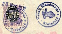 Germany 1932 BIELEFELD Prussia Local Municipal Revenue 60 Pf. Gebührenmarke Fiscal Tax Document Deutschland Allemagne - Germany