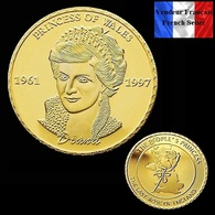 1 Pièce Plaquée OR ( GOLD Plated Coin ) - Lady Diana - Monnaies