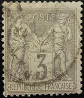 FRANCE N°87b Sage 3c Gris. Oblitéré CàD - 1876-1898 Sage (Type II)