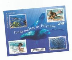Fonds Marins De Polynésie     Beaux Cachets   (clasbla) - Blocs-feuillets